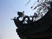xiamen particolare di un tetto tempio nanputuo