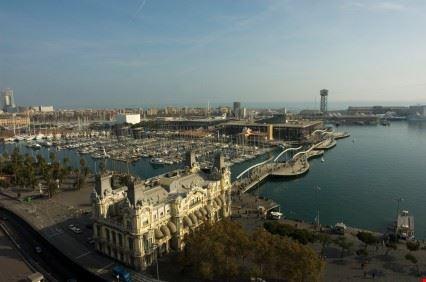 Scorcio del porto di Barcellona