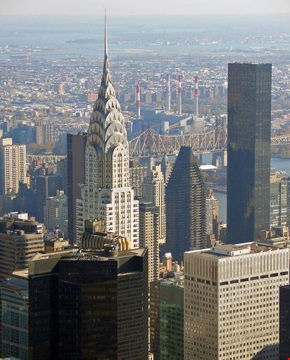 Foto Il Chrysler Building Visto Dagli Altri Grattacieli A