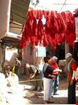 marrakech filati appesi ad asciugare