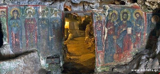 kythira cavern of agia sophia saint wisdom