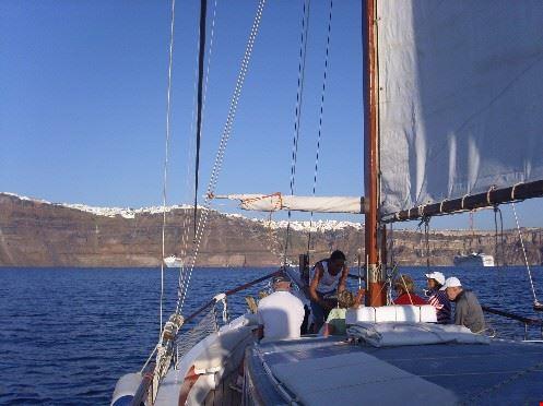20327 santorini cruising in the caldera