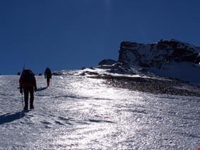 Ice on the ascent of Veleta mountain