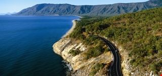 Scenic coastal drive to Port Douglas