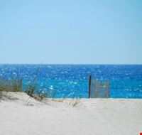 pensacola sand dune and fence on beach