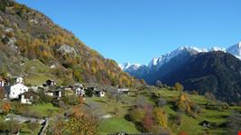 como soglio switzerland in autumn