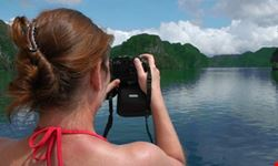 Taking Photos While Cruising on Halong bay