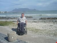 Wheelchair traveller Jonathan in Cape Town