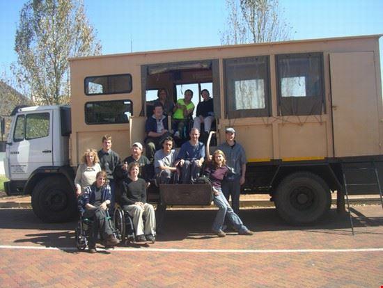Wheelchair accessible safari vehicle