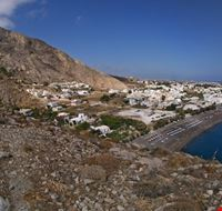 21698 santorini small village with a long beach