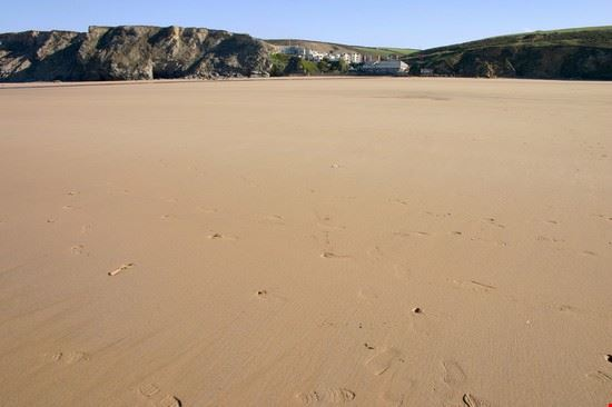 The huge beach at low tide