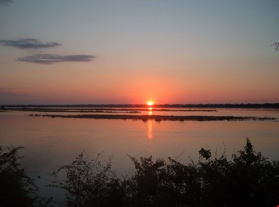 Sunrise on the Zambezi River
