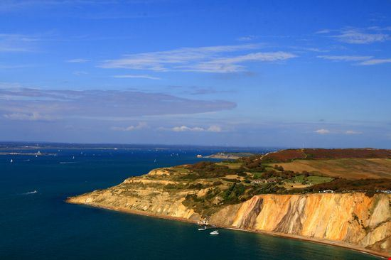 the needles park at alum bay isle of wight
