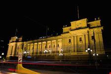 melbourne el parlamento de noche