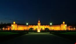 Il Palazzo di Karlsruhe di notte
