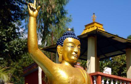 pokhara la statua di buddha