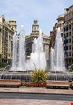 valencia fuente en la plaza del ayuntamiento