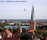 luebeck luebecker dom vom petri-kirchturm aus