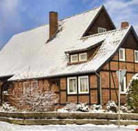 Winter und Fachwerk in Lüneburg
