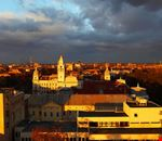 Sunset color over Arad Town
