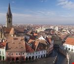 Aerial view of cityscape Sibiu