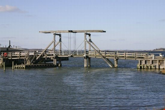 Traditional Wooden lifting bridge