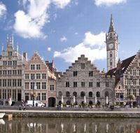 buildings in the old town of ghent gand