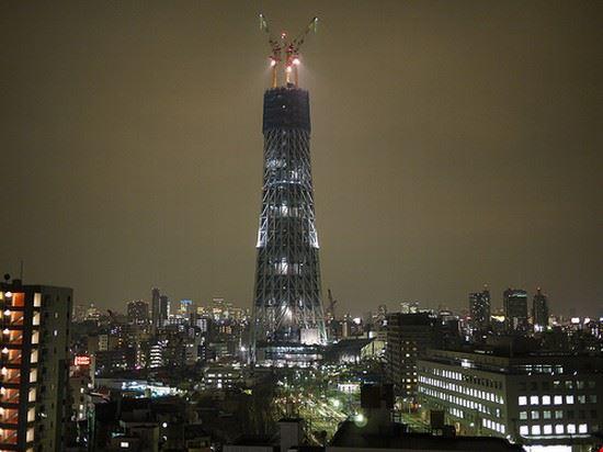 26609 tokyo sky tree by night