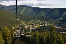 green hills and the town spindleruv mlyn
