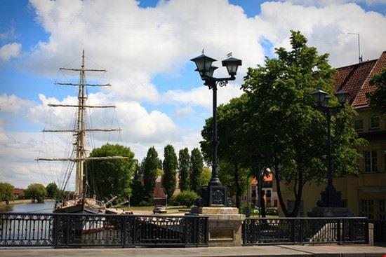 sailboat moored at klaipeda city klaipeda