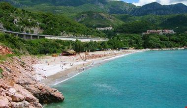 Beautiful beach at Budva's riviera