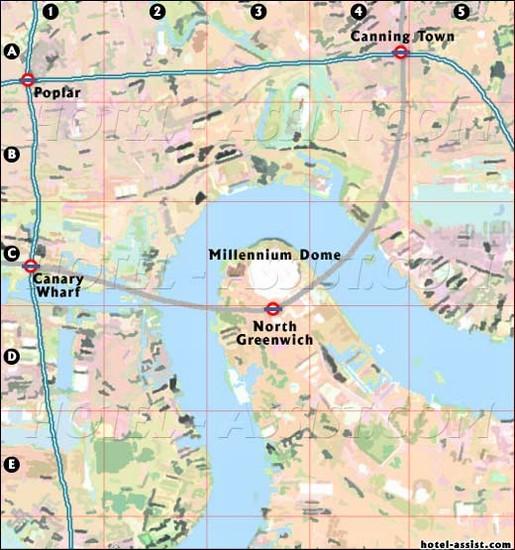 Foto Mappa Docklands A Londra - 515x550