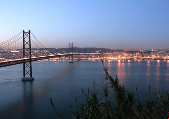 river tejo and 25 april bridge lisbona