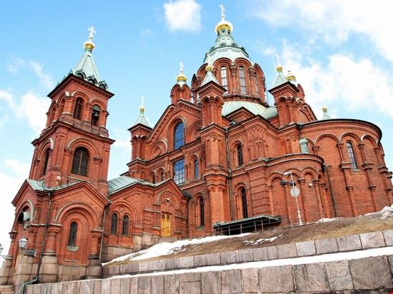 helsinki uspenski cathedral nella zona di katajanokka