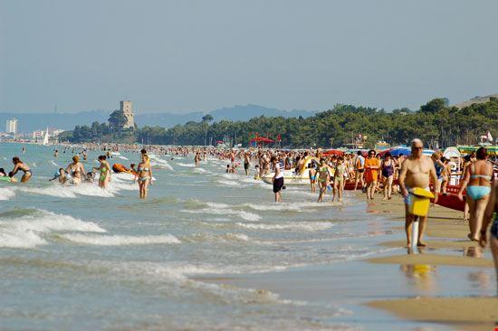 La spiaggia di Pineto