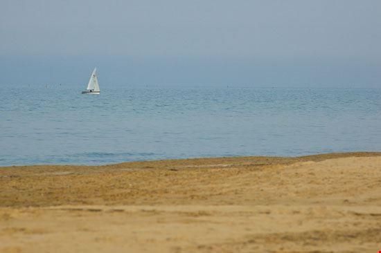 Veduta del mare dalla spiaggia