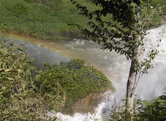 Cascata delle marmore con arcobaleno...