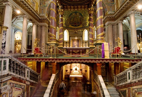 Foto Rom Basilica Santa Maria Maggiore A Roma 550x378