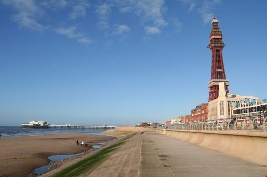 tower and beach blackpool
