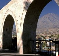 city through archway arequipa
