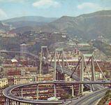 genova il viadotto polcervera lunghezza m 1102 larghezza m 18 campata