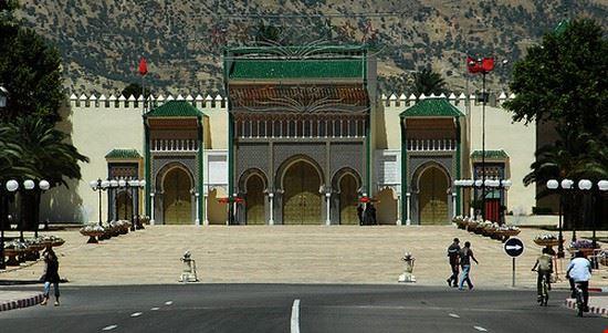 33284 fes entrata del palazzo reale di fes