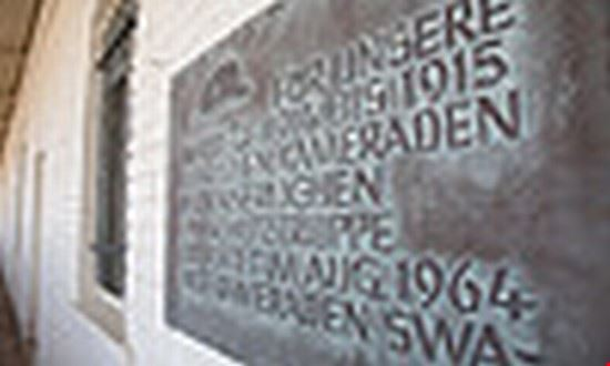 33398 windhoek alte feste inside courtyard wall inscription