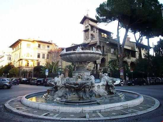 33920 rome quartier coppede a rome la fontana delle rane