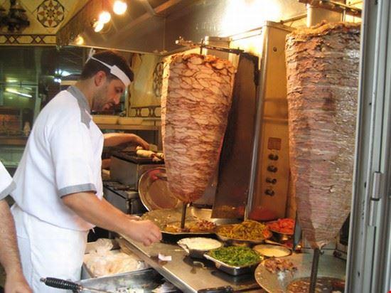 A Shawarma kiosk