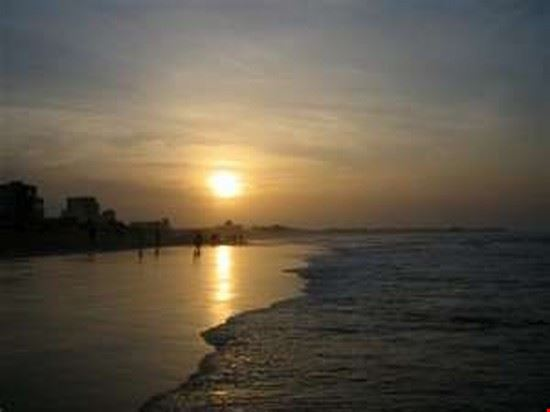 DAKAR Plage de Yoff at sunset