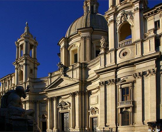 35206 roma facciata della chiesa di s agnese in agone a roma