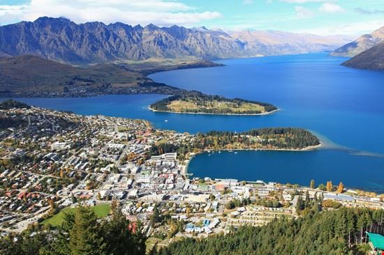 queenstown panoramablick auf queenstown