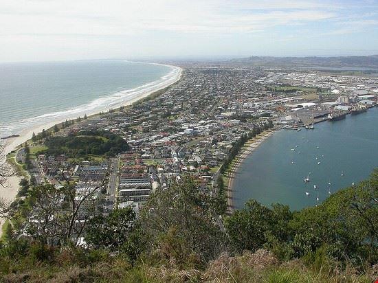 tauranga sicht auf tauranga vom mount maunganui