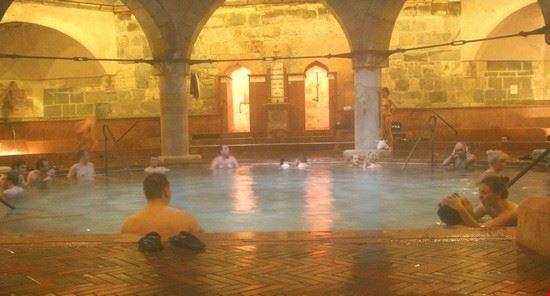 Budapest. At the Rudas baths